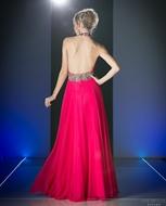 Picture of Elegant Ruffles Sleeveless Split Evening Mermaid Maxi Dress